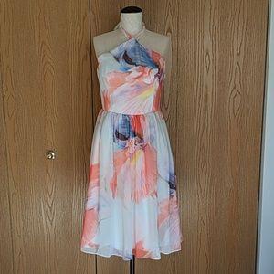 WHBM Floral Halter Dress